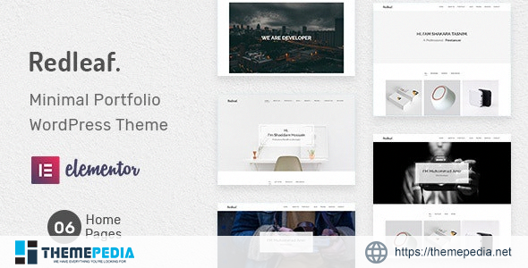 Redleaf – Minimal Portfolio WordPress Theme [Free download]