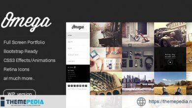 Omega – Minimal WordPress Theme [Free download]