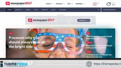 NewsPaper2017 – WordPress Theme for Blog and Magazine [Free download]
