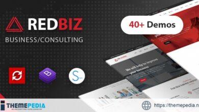 RedBiz – Finance & Consulting Multi-Purpose WordPress Theme [Free download]