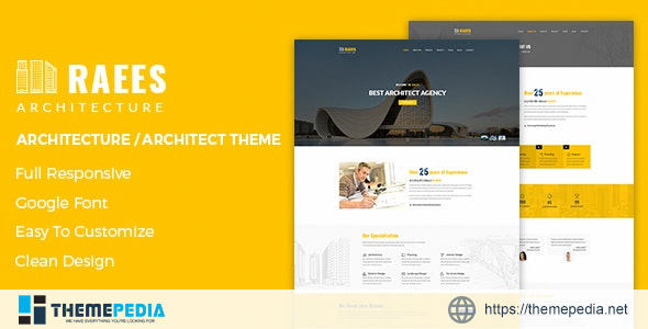 Raees – Creative Responsive Architecture Theme [Free download]