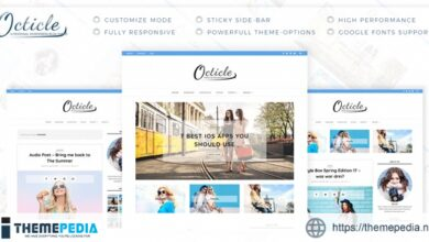 Octicle – Personal WordPress Blog Theme [Updated Version]