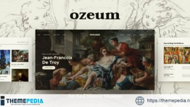 Ozeum – Modern Art Gallery and Creative Online Museum WordPress Theme [Free download]