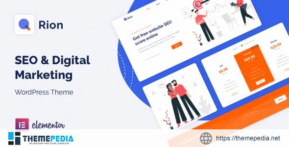 Qrion – SEO & Digital Marketing WordPress Theme [nulled]