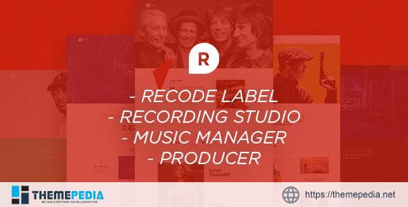 Recording Studio WordPress Theme – DJ – Producer – Music – Soundtrack – Artist – Entertainment [Free download]