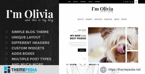 Olivia – Clean & Responsive WordPress Blog Theme [Latest Version]