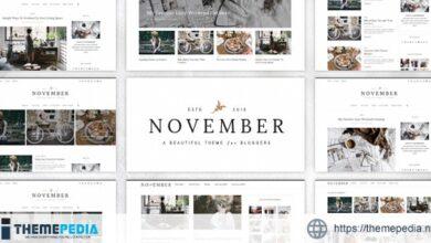 November – A WordPress Blog Theme [Free download]