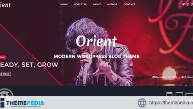 Orient – Modern WordPress Blog Theme [Free download]