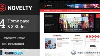 Novelty Magazine WordPress theme [Free download]