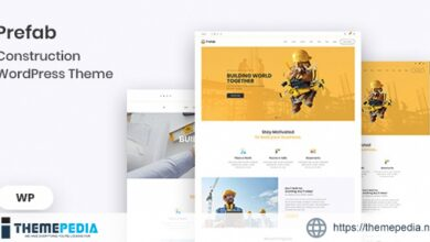 Prefab – Construction WordPress Theme [Free download]