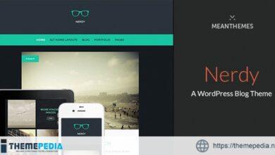 Nerdy- A WordPress Blog Theme [Updated Version]