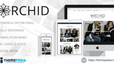 Orchid – A Clean Personal WordPress Blog Theme [Free download]