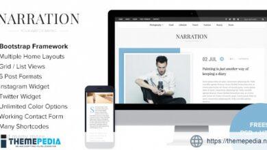 Narration – A Responsive WordPress Blog Theme [Free download]