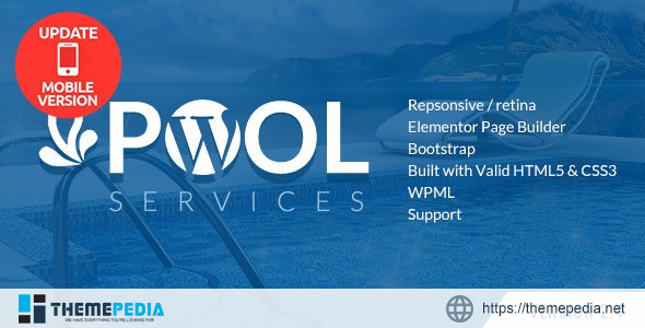 Pool Services WordPress Theme + RTL [Updated Version]