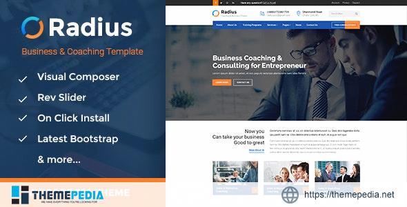 Radius – Business Training WordPress Theme [Free download]