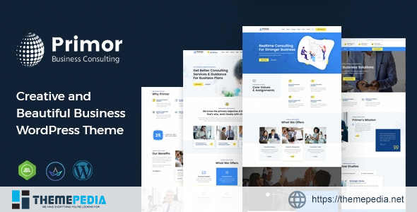 Primor – Business Consulting WordPress Theme [Free download]
