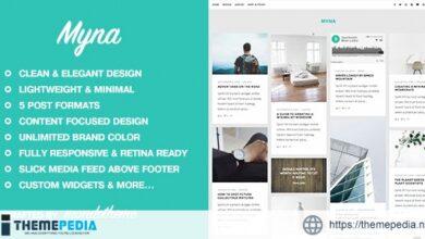 Myna – A Masonry WordPress Blog Theme [Updated Version]