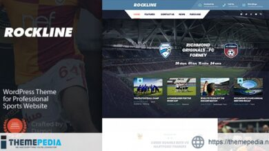 Rockline – Sport News and Club WordPress Theme [Free download]