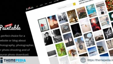 Paintable – Photography and Blog – Photos Download WordPress Theme [Free download]