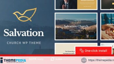 Salvation – Church & Religion WP Theme [Free download]