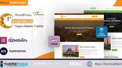 Taqwa – Islamic Center WordPress Theme [Free download]