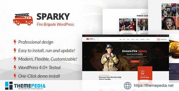 Sparky – Fire Brigade WordPress Theme [Updated Version]