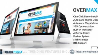 Overmax – Clean WordPress Magazine & Lifestyle Theme [Free download]