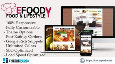 Efoody – Food and Lifestyle WordPress Theme [Free download]