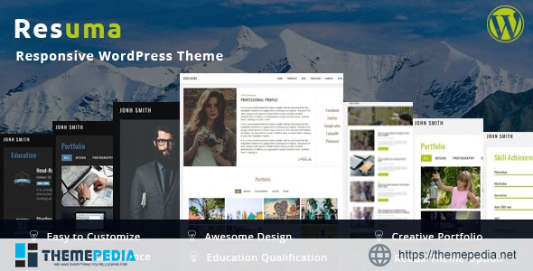 Resuma- Portfolio Responsive WordPress Theme [Free download]