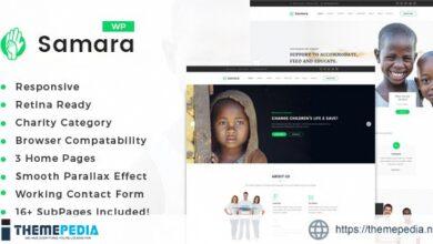 Samara – Charity-Fundraising WordPress Theme [Free download]