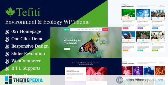 Tefiti- Environment & Ecology WordPress Theme [Free download]