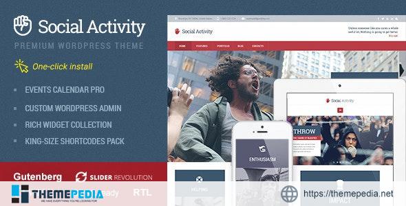 Social Activity – Politics & Activism WP Theme [Free download]
