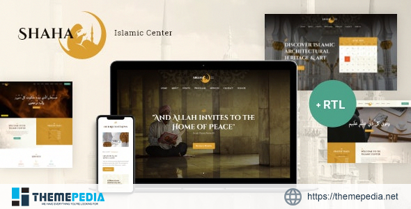 Shaha – Islamic Centre & Mosque WordPress Theme + RTL [Free download]