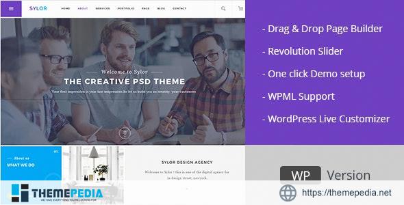 Sylor – Minimal Creative Agency WordPress Portfolio [Free download]