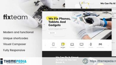 FixTeam – Electronics & Mobile Devices Repair WordPress Theme [Free download]