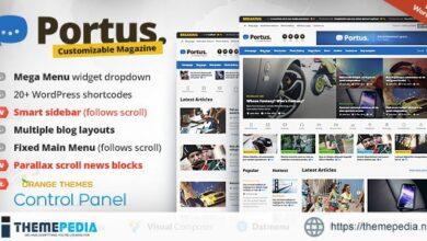 Portus – News Portal & Magazine WordPress Theme [Free download]