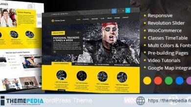 Fitness WordPress Theme eCommerce [Free download]