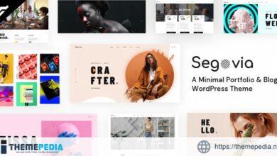 Segovia – A Minimal Portfolio And Blog WordPress Theme [Free download]