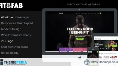 Fit & Fab – Aerobic, Gym and Fitness WordPress Theme [Free download]