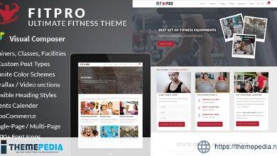 FitPro – Events Fitness Gym Sports WordPress Theme [Free download]