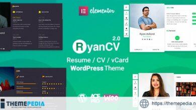 RyanCV – CV-Resume Theme [Free download]
