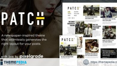 Patch – Unconventional Newspaper-Like Blog Theme [Free download]