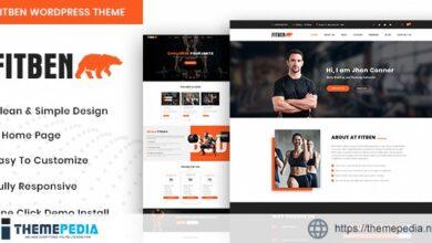 Fitben – Gym Fitness WordPress Theme [Free download]