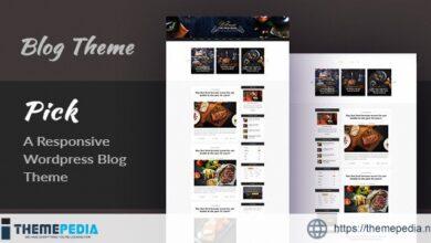 Pick – A Responsive WordPress Blog Theme [Updated Version]