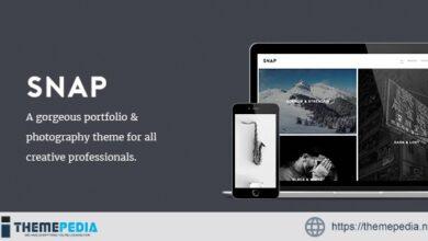 SNAP – Creative Portfolio – Photography WordPress Theme [Free download]