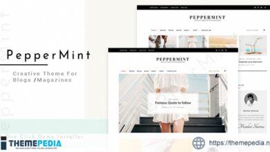 PepperMint – Creative WordPress Theme for Blogs-Mini-Magazines [Free download]