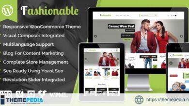 Fashionable – Creative Fashion WooCommerce WordPress Theme [nulled]