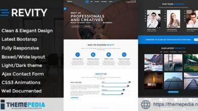 Revity – One Page Portfolio WordPress Theme [Free download]