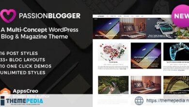 Passion Blogger – A Responsive WordPress Theme [Free download]