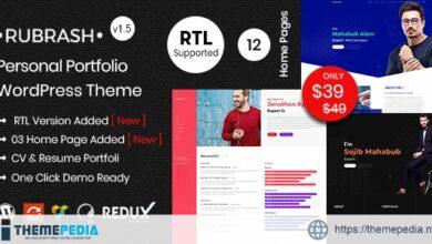Rubrash – Personal Portfolio WordPress Theme [Free download]